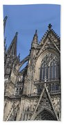 Cologne Cathedral South Side Rooflines Bath Towel