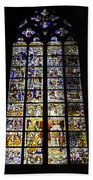 Cologne Cathedral Stained Glass Window Of St Peter And Tree Of Jesse Bath Towel