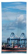 Colon Container Terminal, Panama Canal Bath Towel