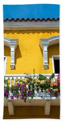 Colonial Balcony In Cartagena Bath Towel