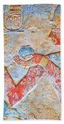 Color Hieroglyph Bath Towel