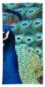 Color Me Peacock Bath Towel