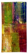 Color Panel Abstract Bath Towel