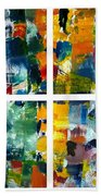 Color Relationships Collage Hand Towel by Michelle Calkins