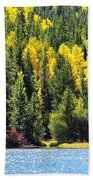 Colorado Mountain Lake In Fall Bath Towel