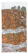 Colorado Red Sandstone Country Dusted With Snow Bath Towel