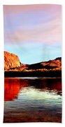 Colorado River Lees Ferry Painting Bath Towel