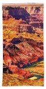 Colorado River 1 Mi Below 100 Miles To Vermillion Cliffs Utah Bath Towel
