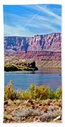 Colorado River Upstream From Boat Ramp At Lee's Ferry In Glen Canyon National Recreation Area-az Bath Towel
