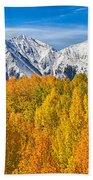 Colorado Rocky Mountain Autumn Beauty Bath Towel
