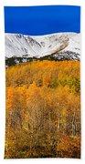 Colorado Rocky Mountain Independence Pass Autumn Pano 2 Bath Towel