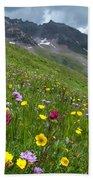 Colorado Wildflowers And Mountains Bath Towel