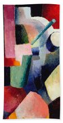 Colored Composition Of Forms   Bath Towel