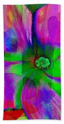 Colorful African Violet Bath Towel