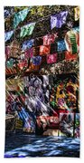 Colorful Art Store In Mexico Bath Towel