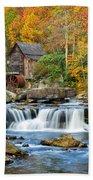 Colorful Autumn Grist Mill Bath Towel