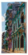 Colorful Buildings In Havana Bath Towel