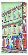 Colorful Buildings Bath Towel