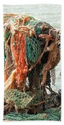 Colorful Catch - Starfish In Fishing Nets Bath Towel