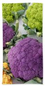 Colorful Cauliflower Bath Towel