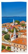 Colorful City Of Zadar Rooftops  Towers Bath Towel