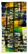 Colorful City Scene Bath Towel