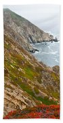 Colorful Cliffs At Point Reyes Bath Towel