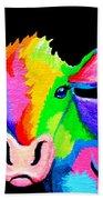 Colorful Cow-cow-a-bunga Bath Towel
