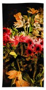 Colorful Cut Flowers - V3 Bath Towel