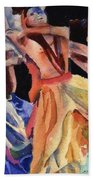 Colorful Dancers Bath Towel