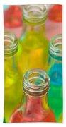 Colorful Drink Bottles Bath Towel