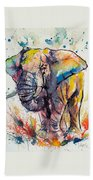 Colorful Elephant Bath Towel