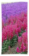 Colorful Flower Fields Bath Towel