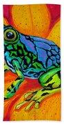 Colorful Frog Bath Towel