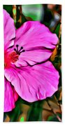 Colorful Hibiscus Bath Towel