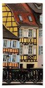 Colorful Homes Of La Petite Venise In Colmar France Bath Towel