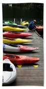 Colorful Kayaks At Whistler Bc Bath Towel