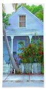 Colorful Key West Cottage Bath Towel