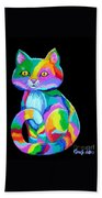 Colorful Kitten Bath Towel