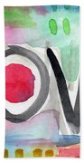 Colorful Love- Painting Bath Towel