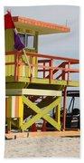 Colorful Ocean Rescue Miami Bath Towel