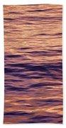 Colorful Ocean Water At Sunset Bath Towel