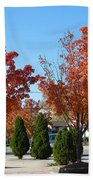 Colorful Ohio Trees Bath Towel