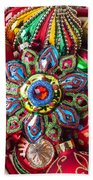 Colorful Ornaments Bath Towel