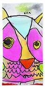 colorful Owl Bath Towel