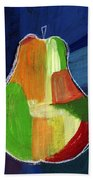 Colorful Pear- Abstract Painting Bath Towel