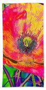 Colorful Poppy Bath Towel