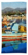 Colorful Boats Bath Towel