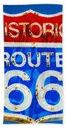 Colorful Route 66 Bath Towel