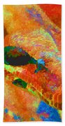 Colorful Snake Bath Towel